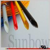 Sunbow UL 2751 1.2kv 절연제 관 유리 섬유 실리콘 녹색 6.0mm VW-1