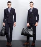 Streifen-Geschäfts-Entwerfer-Klage der doppelten Breasted dünnen Sitz-Männer