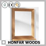 [تك] طبيعيّ خشبيّ مرآة إطار لأنّ زخرفة بيتيّة