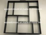 Molde plástico concreto del camino del jardín del molde DIY del pavimento de los moldes (PL50-YL)