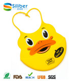 O animal projeta Bibs saudáveis Non-Toxic do bebê do silicone com bolso do alimento