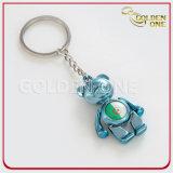 Reizender bunter Bären-kundenspezifisches Firmenzeichen-Metall Keychain