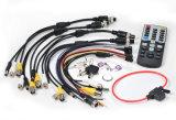 タクシー、バス、船、トレイン、タンク、使用されるパトカーのための4channel 1080P HD車DVR 3G/4G/GPS DVR
