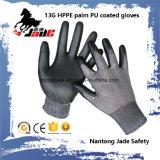 Gant de sûreté, pente résistante 3 et 5 de niveau de gant coupée par sûreté de 13G Hppe