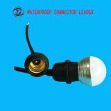 Uso para iluminar o suporte elétrico impermeável da lâmpada E27 do diodo emissor de luz com interruptor