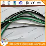 De rode Draad van de Bouw liep de Naakte Elektrische Kabel van Thhn van het Jasje van het Koper 8AWG/10AWG/12AWG Nylon vast