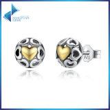 Fijne Juwelen van de Oorringen van de Nagel van het Hart van vrouwen de Zilveren