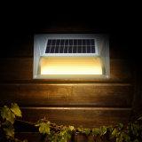 Luzes solares para a luz da etapa da parede do jardim