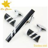 Tieclip-010 personalizó lazos delgados plateados oro del esmalte de la manera suave de China