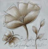 Peinture à l'huile simple fabriquée à la main de modèle de fleur de 100% pour la décoration à la maison
