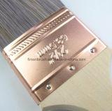 Verschiedene Größen Beavertail Kupfer Zwinge Kegel Filament Pinsel Set mit Holzgriff Großhandel China Hersteller