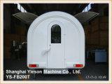 Ys-Fb200t 넓은 작업 공간 이동할 수 있는 부엌 Crepe 손수레 간이 식품 트럭