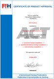 Grama sintética para o campo Fih do hóquei certificado (H12)