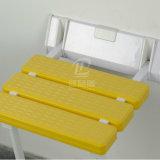 Encima del taburete de nylon plegable del baño del asiento de la ducha para los minusválidos