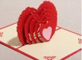 La alta calidad 3D surge la tarjeta de felicitación