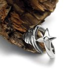 Het Uitstekende Zilver van het Roestvrij staal van de Ring van de Staart van de Vrouwen van de Vleugels van de hoek