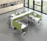 Decay Aluminum Glass Wooden Cubicle workstation Office partition (NS-NW130)
