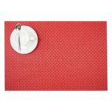 8X8 cor vermelha Placemat tecido matéria têxtil