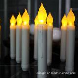 Velas religiosas de cintilação amarelas do atarraxamento do diodo emissor de luz da bateria 2*AA