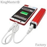 potencia portable al aire libre de la batería de la potencia de la alta calidad 2600mAh con el cable