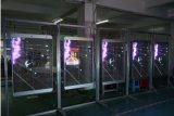 Do sinal de vidro do poster do diodo emissor de luz bandeira transparente
