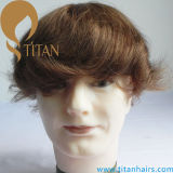 Brown Color Hair system Hair Piece Toupee para homens