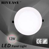 12W acrylique rond LGP avec le grand panneau d'éclairage LED de radiateur