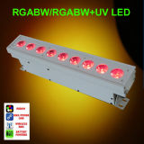 Télécommande 9PCS Rgabw + UV Battery LED Wall Washer Light