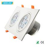 사각 10W는 백색 LED 천장 램프 Dimmable LED Downlight를 데운다
