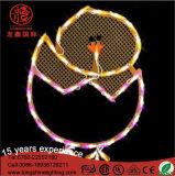 220V impermeabilizzano l'indicatore luminoso variabile della corda di motivo del LED per l'uovo di Pasqua