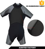 Wetsuit durable modificado para requisitos particulares del salto de Shorty del neopreno del muchacho y de la muchacha
