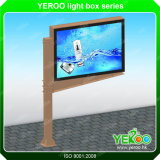 Kundenspezifische Stainess Backlit LED Lightbox Stahlanschlagtafel