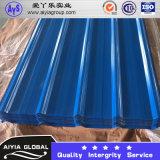 Ral 9003 Farbe beschichtetes Stahlring-Polycarbonat-Dach-Blatt
