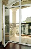 porte en verre de tissu pour rideaux du bâti 6063-T5 en aluminium avec le matériel allemand