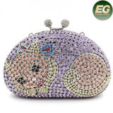 Dernières Fashion Cat Crystal Ladies Evening Purse Clutch Bag Sacs à main Leb731