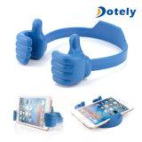 Berceau de bureau de stand d'amusement de Pouces-vers le haut de téléphone cellulaire de support de bureau flexible réglable mignon de tablette