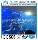 Precio de acrílico redondo transparente grande del proyecto del restaurante del acuario