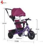 Triciclo de criança 3 de 3 rodas em 1 passeio dos brinquedos das crianças dos miúdos do carro de bebê bom no brinquedo às crianças