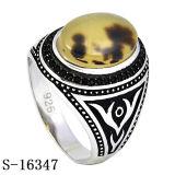 좋은 모형 자연적인 돌을%s 가진 925의 은 남자 반지