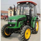 trattori agricoli a quattro ruote di agricoltura di 50HP 60HP 70HP 80HP con la baracca del A/C