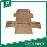 Caja de papel marrón acanalada por envío con la impresión personalizada