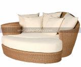 PET Mtc-203 Rattan-aus Weiden geflochtener moderner Sofa-Bett-im Freiengarten Sunbed