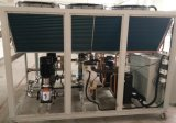 refrigerador de água de refrigeração ar do aço 130kw inoxidável para a transformação de produtos alimentares