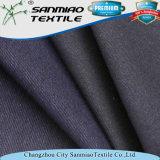 Cotone della saia dell'indaco di prezzi di fabbrica che lavora a maglia il tessuto lavorato a maglia del denim per gli indumenti