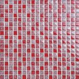 Mosaico di vetro di Crackle di colore rosso della decorazione di ricezione (G815011)