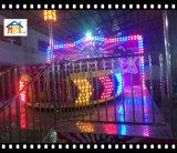 Equipamento de diversão com palco de disco