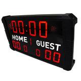 Leiden- Scorebord voor het Binnen slechts Gebruik van de Afstandsbediening van IRL van het Basketbal