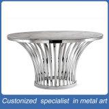 Mobília redonda da tabela do aço inoxidável da prata da manufatura da fábrica