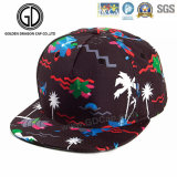 Chapeau coloré de Snapback de basket-ball d'impression d'écran de dragon vert de mode
