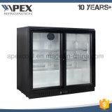 음료 음료 바 냉장고를 위한 유리제 양쪽으로 여닫는 문 뒤 바 냉각기